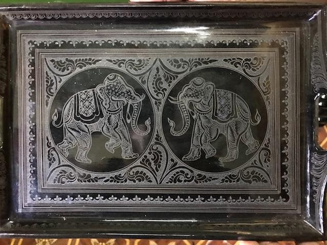 Lacquerware artwork in Myinkabar, Bagan
