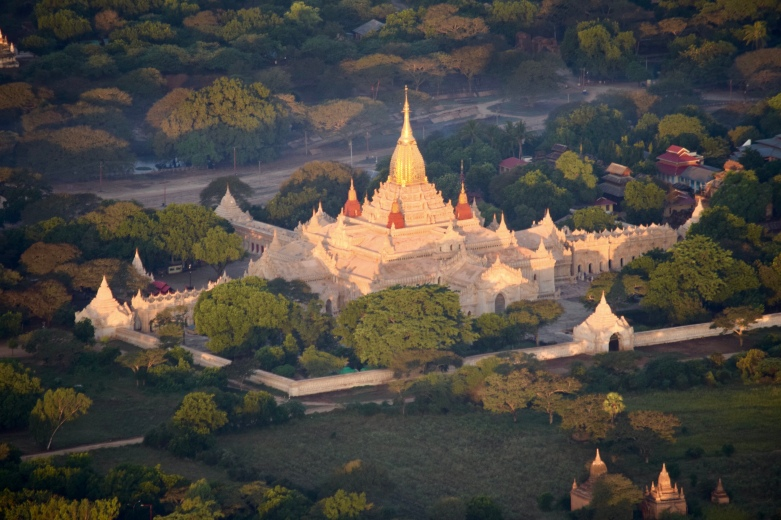 Ananda Temple from the balloon