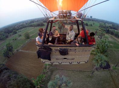 Balloons Over Bagan Hot Air Balloon flight over farm lands