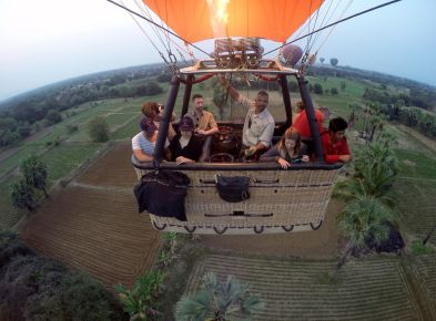 Balloons Over Bagan Hot Air Balloon flight over farm lands