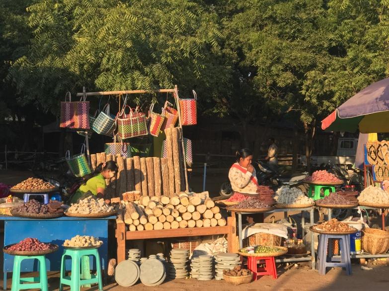 Thanka shop at Ananda Festival market