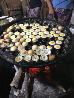 Local delicacy, quail eggs