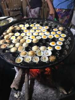 Local delicacy, quail eggs